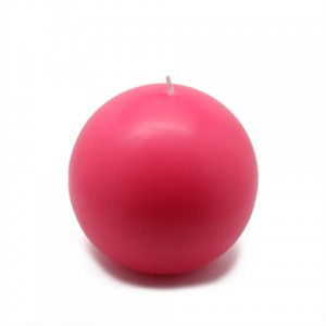 4 Inch Hot Pink Ball Candles (2pc/Box)