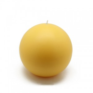 4 Inch Yellow Ball Candles (2pc/Box)
