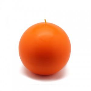 4 Inch Orange Ball Candles (2pc/Box)
