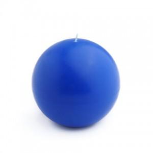4 Inch Blue Ball Candles (2pc/Box)