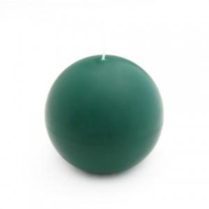 4 Inch Hunter Green Ball Candles (2pc/Box)