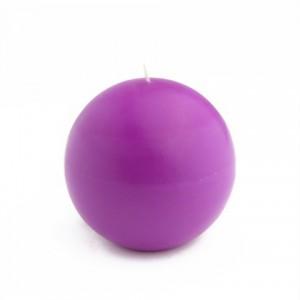 4 Inch Purple Ball Candles (2pc/Box)