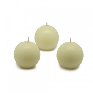 "2"" Ivory Ball Candles (12pc/Box)"