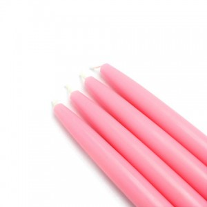 "6"" Pink Taper Candles (1 Dozen)"