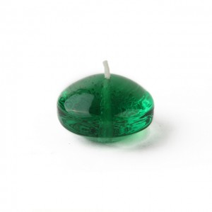 1.75 Inch Clear Hunter Green Gel Floating Candles (12pc/Box)