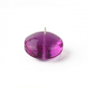 1.75 Inch Clear Purple Gel Floating Candles (12pc/Box)