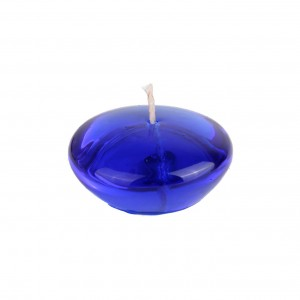 3 Inch Clear Blue Gel Floating Candles (6pc/Box)