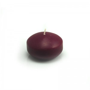 """1 3/4"""" Burgundy Floating Candles (24pc/Box)"""