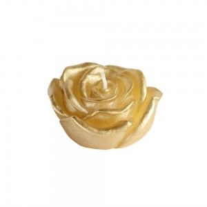 3 Inch Metallic Rose Floating Candles (12pc/Box)