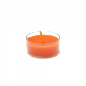 Orange Tealight Candles (50pcs/Pack)