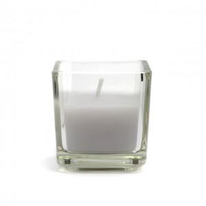 Lavender Square Glass Votive Candles (12pc/Box)