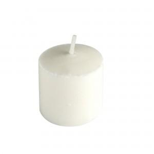 24pk Mini Pressed White Votive Candles