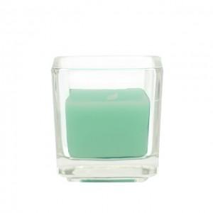 Aqua Square Glass Votive Candles (12pc/Box)