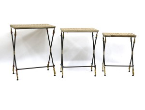 Wooden Folding Table (Set of 3)