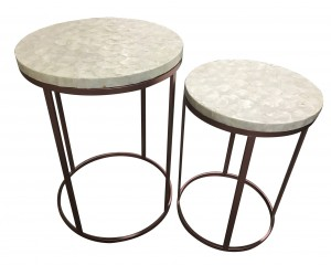 Bellie Shell Table-Set of 2