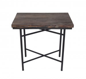 WOOD/METAL RECT.TABLE.