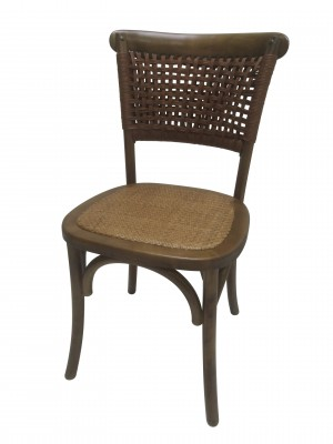 "34""H Brown Wooden Chair - Set of 2"