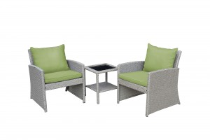 Mirabelle 3 Pieces Bistro Set with 2 Inch Sage Green Cushion